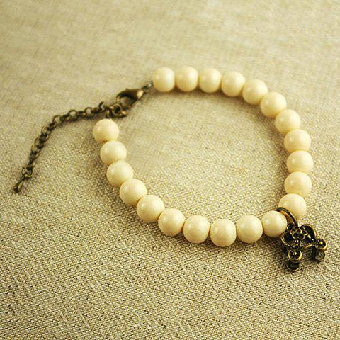 Retro Sweet Style Pumpkin Carriage Embellished Women's Handmade Pearl Bracelet - AS THE PICTURE