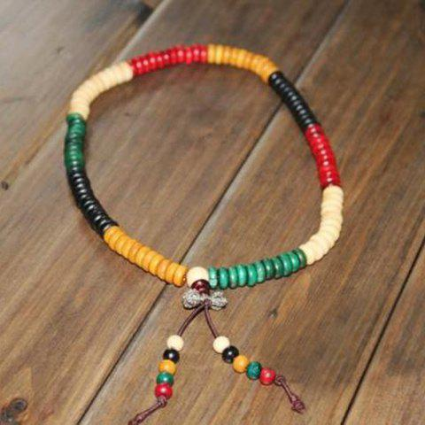 Retro Sweet Style Colorful Beads Embellished Women's Bownot Bracelet - AS THE PICTURE