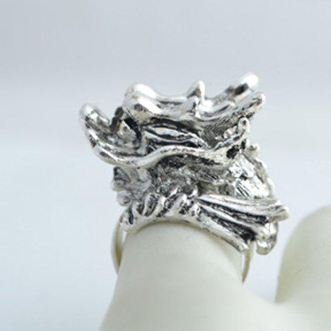 Stylish Punk Exaggerated Style Dragon Head Shape Ring For Men - AS THE PICTURE