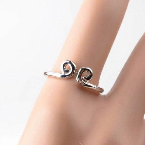 Stylish Simple Style Bend Design Ring For Women/Men - AS THE PICTURE