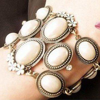 Korea Style and Elegant Flower and Pearl Embellished Bracelet For Women