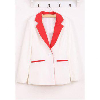 Graceful Lapel Single Button Long Sleeve Women's Blazers