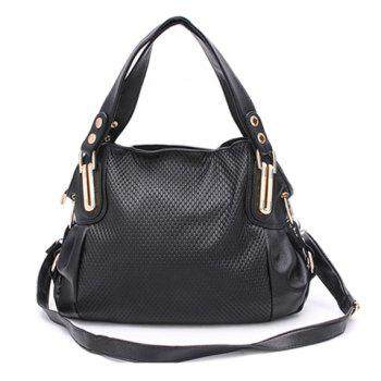 Casual Solid Color Large Size Zipper Design Women's Vintage Tote