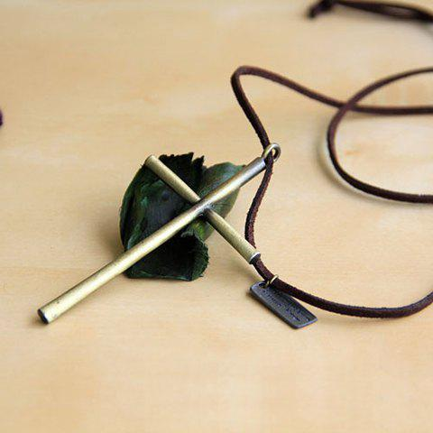 Retro Sweet Style Cross Shape Pendant Women's Sweater Chain - AS THE PICTURE