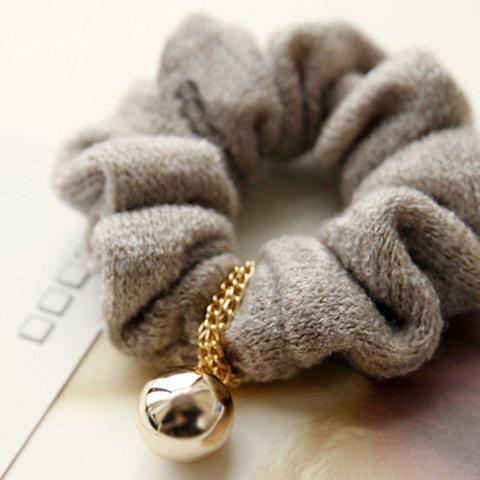 Hot Sale Ladylike Style Alloy Ball Embellished Women's Hair Band - KHAKI