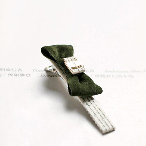 Hot Sale Preppy Style Bowknot Embellished Women's Hairpin - ARMY GREEN