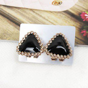Chic Sweet Style Rhinestone Embellished Triangle Shape Women's Stud Earrings