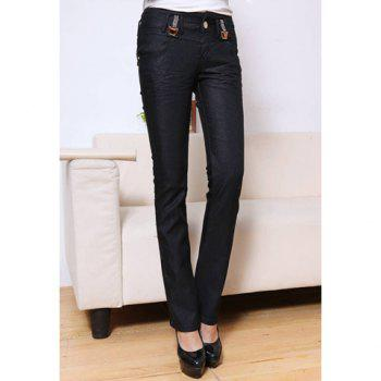 Stylish Rhinestone Embellished Women's Slimming Stretchy Flared Jeans
