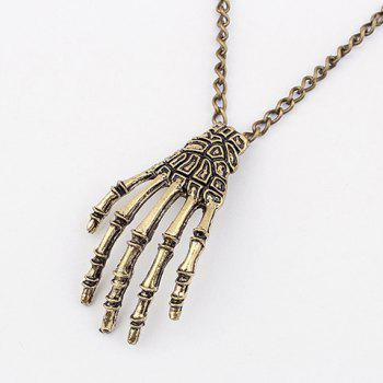 Claw Pendant Sweater Chain Necklace