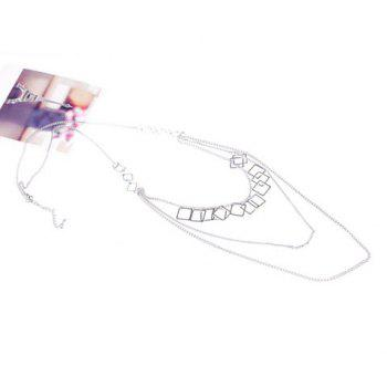 Chic Vintage Multi-Layered Simple Design Women's Sweater Chain Necklace - SILVER SILVER
