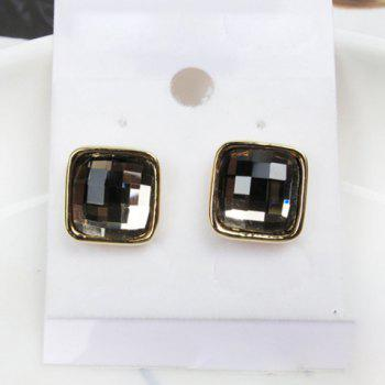 Exquisite Elegant Style Rhinestone Embellished Square Shape Women's Stud Earrings