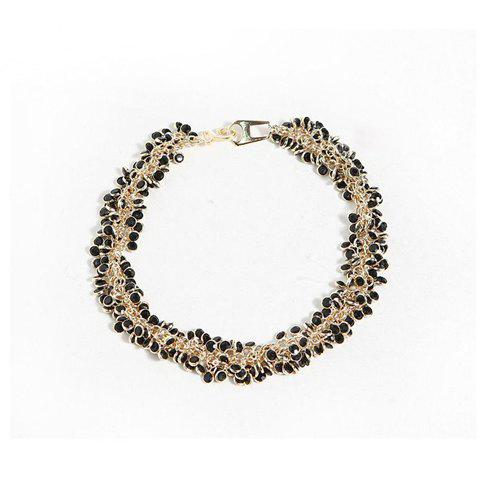 Fashion Graceful Style Rhinestone and Chain Embellished Women's Necklace - AS THE PICTURE