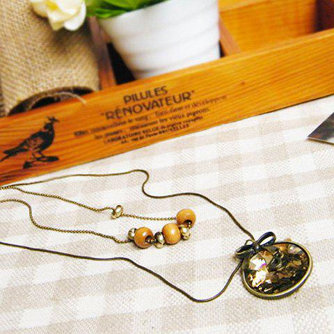 Sweet Elegant Style Bowknot Shape Women's Sweater Chain Necklace - AS THE PICTURE