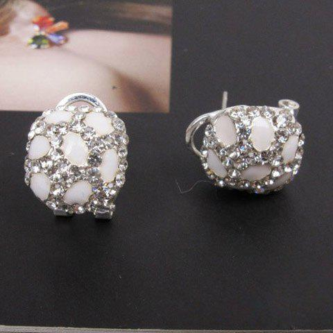 Chic Sweet Style Rhinestoned Ball Shape Embellished Women's Stud Earrings - AS THE PICTURE