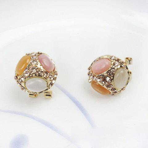 Elegant Style Rhinestone Embellished Ball Shape Women's Stud Earrings