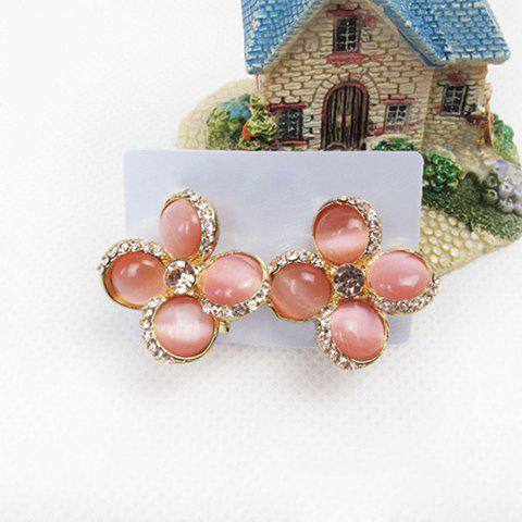 Graceful Sparking Rhinestoned Colver Shape Embellished Women's Stud Earrings - COLOR ASSORTED
