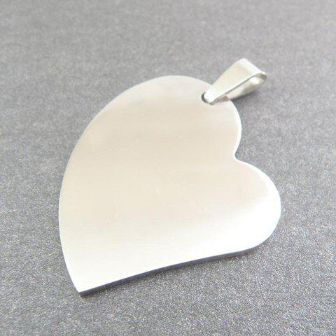 Simple Fashion Style Alloy Heart Shape Pendant For Necklace - COLOR ASSORTED