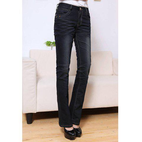 Stylish Pocket Embellished Women's Slimming Stretchy Flared Jeans - AS THE PICTURE 29