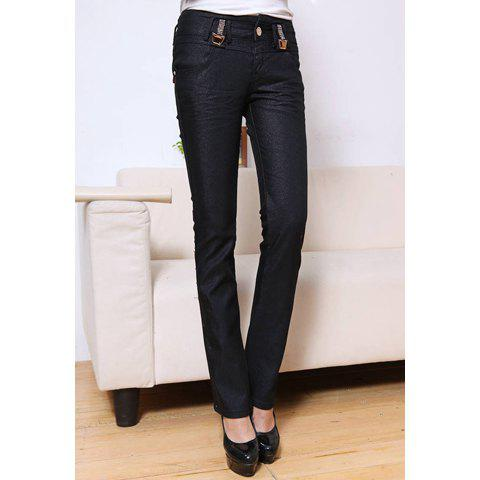 Stylish Rhinestone Embellished Women's Slimming Stretchy Flared Jeans - AS THE PICTURE 27