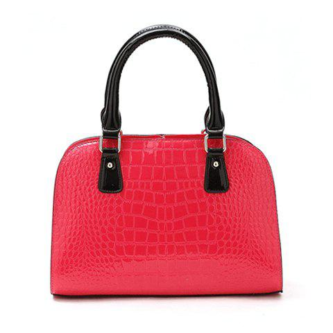 Casual PU Leather Vintage High Quality Sequins Design Women's Tote - ROSE