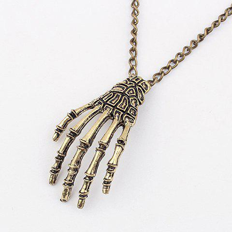 Claw Pendant Sweater Chain Necklace - AS THE PICTURE