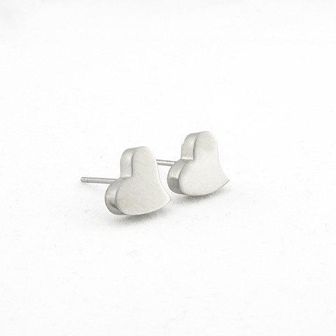 Fashion Sweet Heart Shape Women's Titanium Steel Stud Earrings