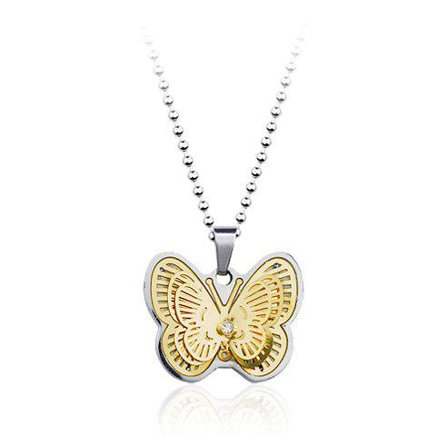 Fashion Graceful Butterfly Pendant Women's Titanium Steel Necklace - AS THE PICTURE