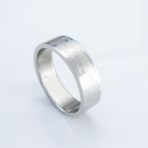 Fashion Exquisite Star Print Men's Titanium Steel Ring