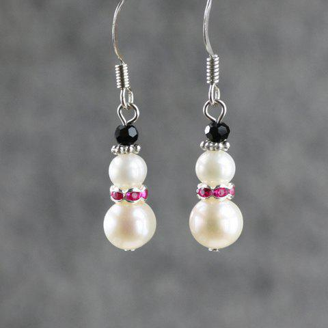 Pair of Sweet Faux Pearl Embellished Women's Drop Earrings - COLOR ASSORTED