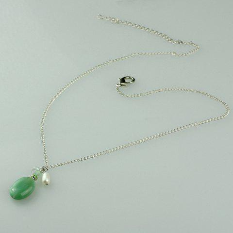 Graceful Agate Pendant Embellished Women's Necklace - AS THE PICTURE