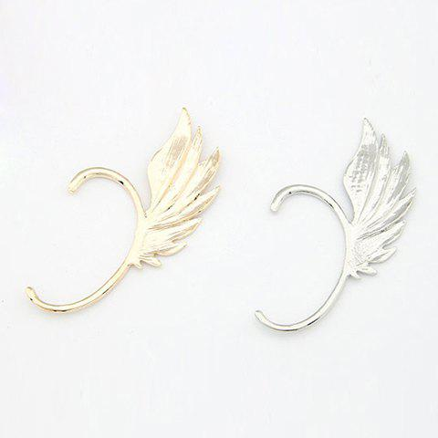 Punk Personalized Style Wing Shape Women's Ear-Hook Earring - SILVER