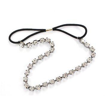 Shining Rhinestone Embellished Hair Band For Women - SILVER WHITE SILVER WHITE