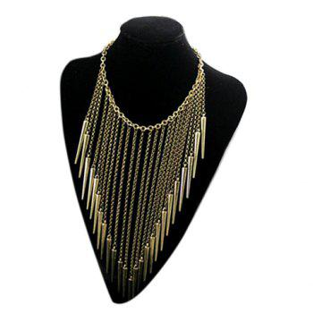 Retro Style Rivet Fringed Pendant Necklace