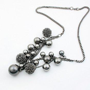 Ball Shape Beads Pendant Necklace - AS THE PICTURE AS THE PICTURE
