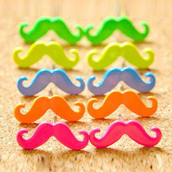 Sweet Candy Color Moustache Shape Alloy Women's Earrings