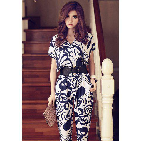 Original  Deep Club Evening Party Jumpsuit With Belt Jumpsuits For Women 2016