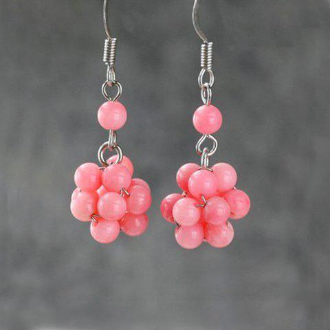 Pair of Chic Elegant Style Coralline Women's Earrings