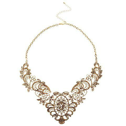 Retro Hollow-out Pattern Necklace For Women - COLOR ASSORTED