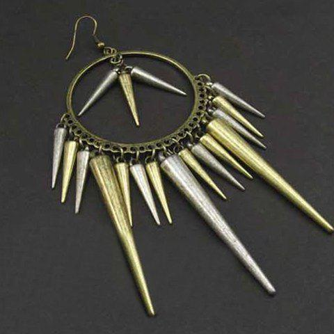 Rivets Tassels Drop Earrings - AS THE PICTURE