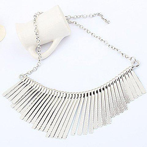 Stunning Retro Style Irregular Metal Tassel Pendant Womens NecklaceJewelry<br><br><br>Color: SILVER