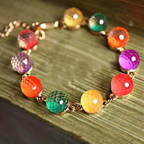Hot Sale Bohemian Style Candy Color Crystal Women's Bracelet