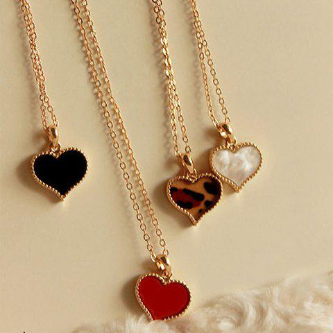 Heart or Flower Shape Necklace For Women - RANDOM COLOR PATTERN