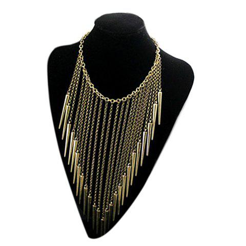 Retro Style Rivet Fringed Pendant Necklace - COLOR ASSORTED