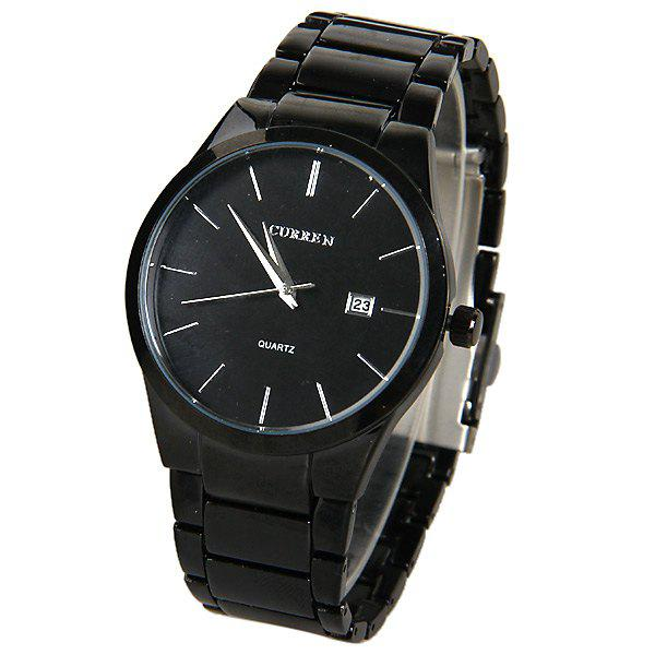 Curren Quartz Watch with Strips Indicate Steel Watch Band for Men -