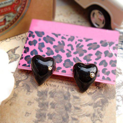 Fashionable Rhinestone Embellished Heart Shape Women's Earrings