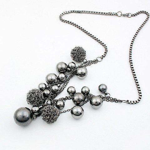 Ball Shape Beads Pendant Necklace - AS THE PICTURE