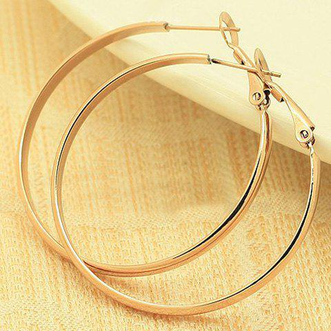 Pair of Sweet Fashion Style Circle Shape Women's Earrings - AS THE PICTURE