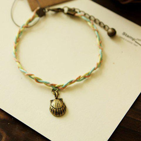 Elegant Shell Shape Pendant Candy Color Women's Bracelet
