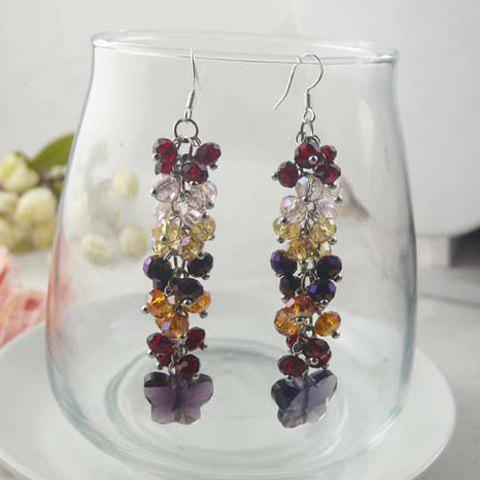 Pair of Chic Sweet Rhinestoned Tassels Drop Earrings For Women - AS THE PICTURE