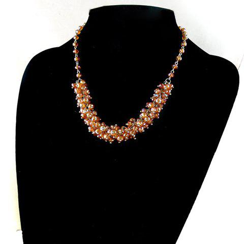 Fashion Exquisite Style Crystal Beads Embellished Necklace For Women - AS THE PICTURE